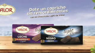 Valor lanza sus primeras tabletas de chocolate light