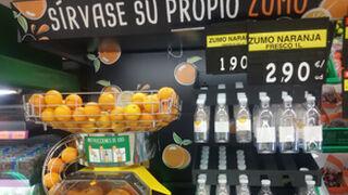 La venta de zumo recién exprimido en Mercadona, aún en pruebas