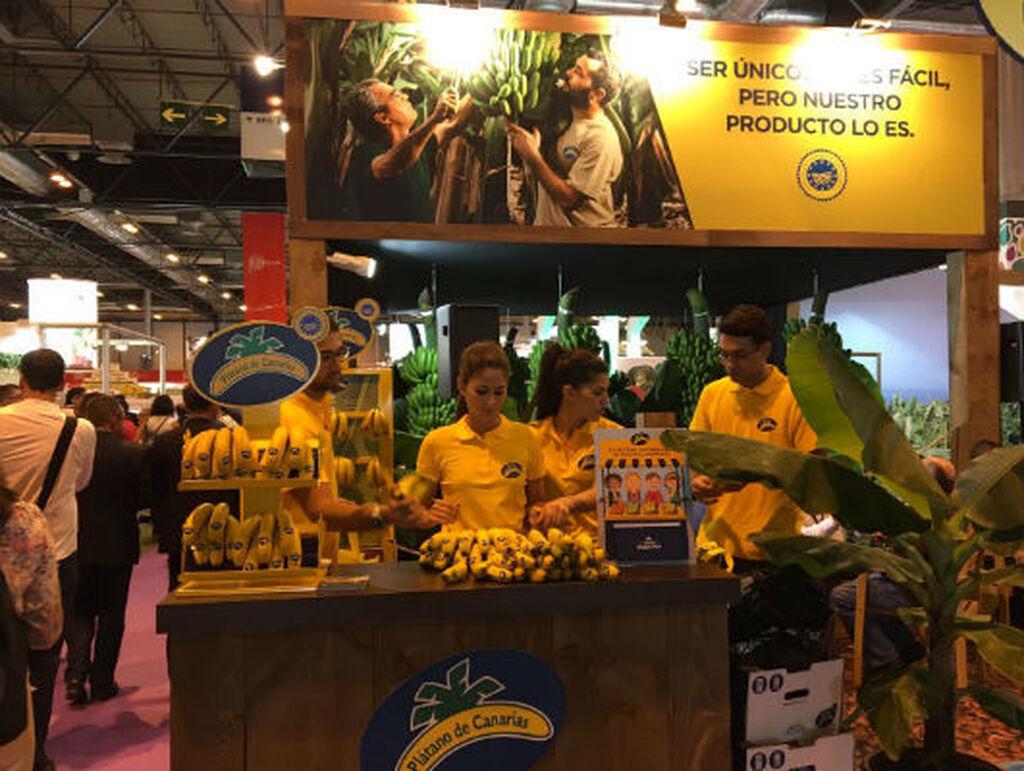Plátano de Canarias no podía faltar en la feria