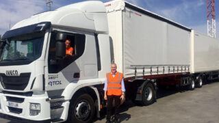 Un nuevo gigante en las carreteras: el megacamión de Carrefour