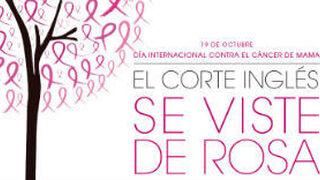 El Corte Inglés se viste de rosa contra el cáncer de mama