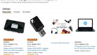 Amazon ya se prepara para el Black Friday y lanza su web de ofertas