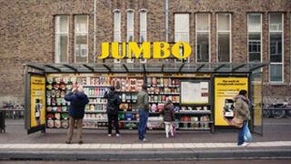 ¿Un supermercado? Sí... en una parada de autobús