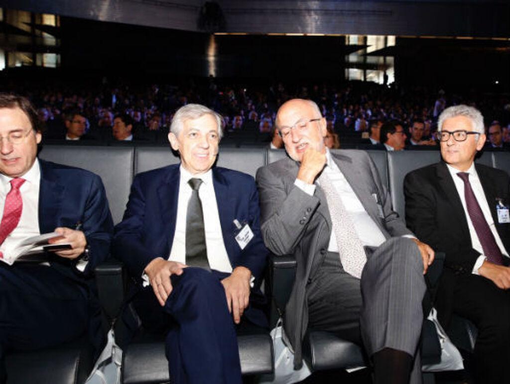 Tomás Pascual, Javier Campo, Juan Roig y José María Bonmatí, durante el Congreso Aecoc