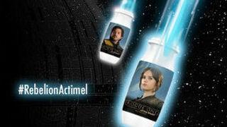 Llegan las botellas de Actimel con los personajes de Star Wars
