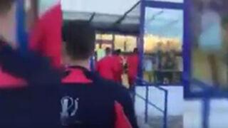 Un hipermercado Carrefour convertido en un campo de fútbol