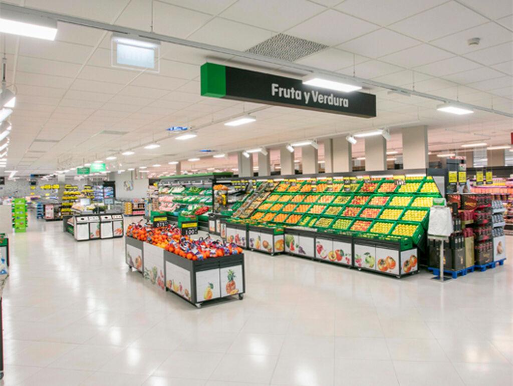 La sección de la fruta y verdura amplía sus pasillos hasta un máximo de 7,5 metros de longitud