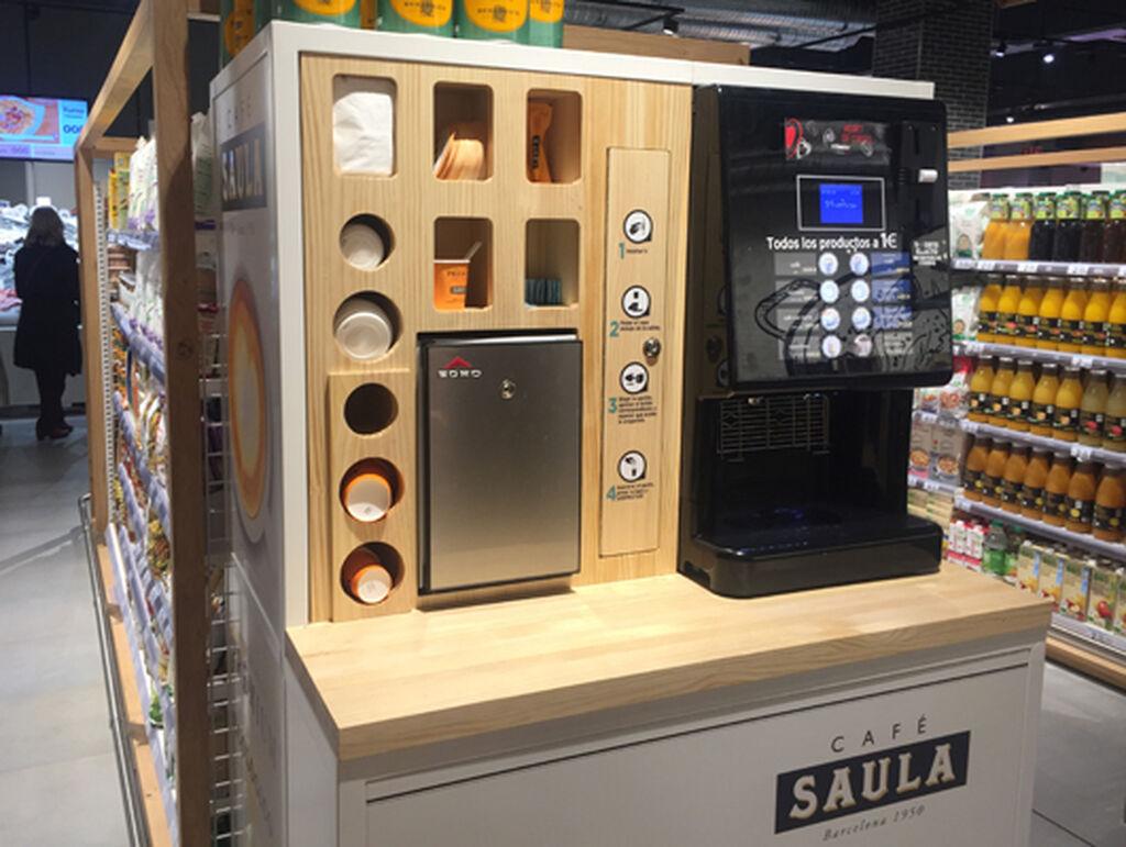 Café de autoservicio en el nuevo Carrefour Market