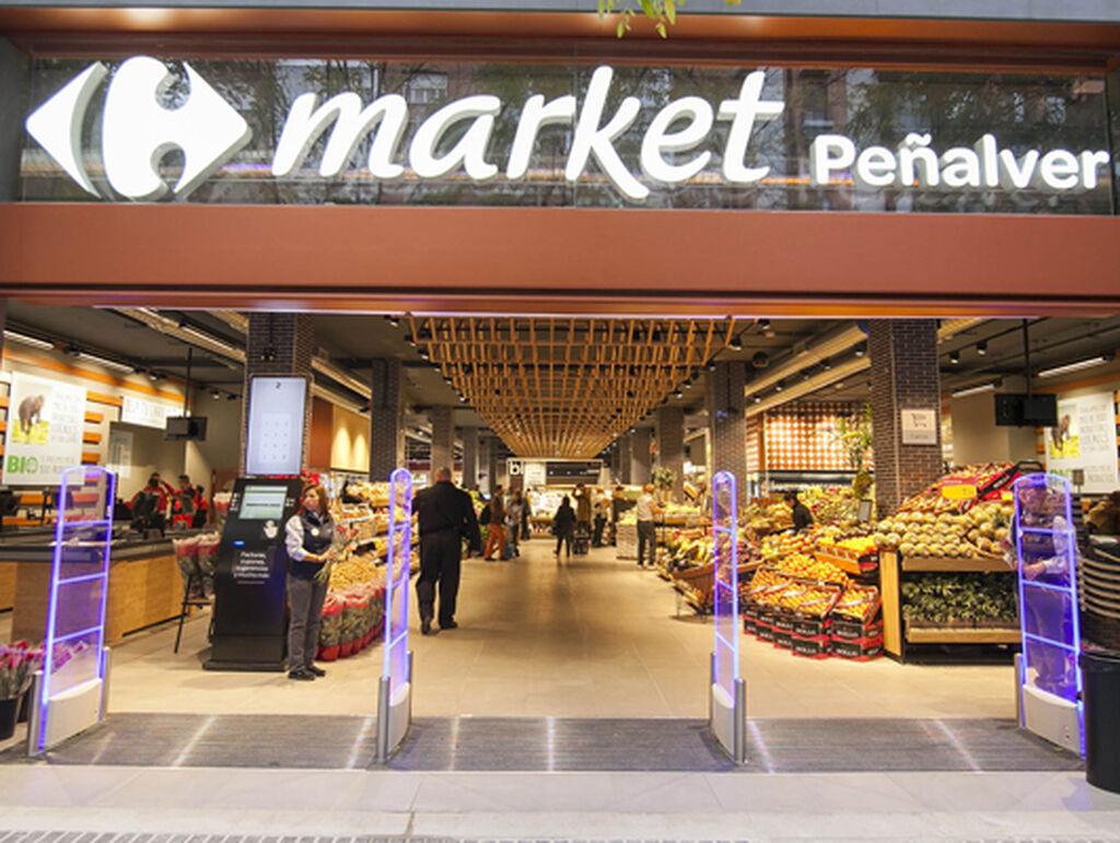 Entrada del nuevo Carrefour Market de Conde de Peñalver, en Madrid