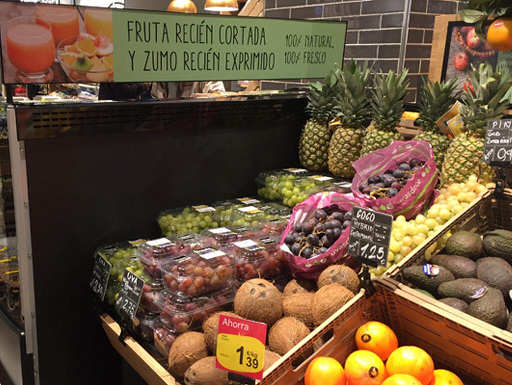 Nuevo vistazo a la sección de frutería