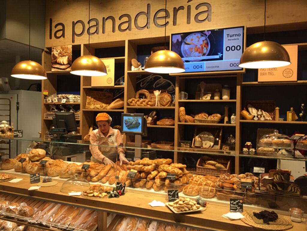 Sección de panadería de lo más atractiva