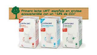 Carrefour lanza la primera leche UHT en envase ecosostenible