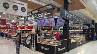 Comer pizza mientras se hace la compra: en Carrefour es posible