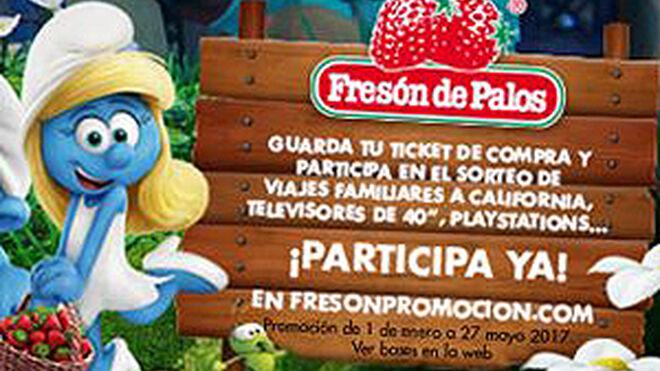 Los Pitufos ayudan a vender más fresas de Fresón de Palos