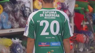 Un equipo de fútbol, convertido en folleto de supermercado