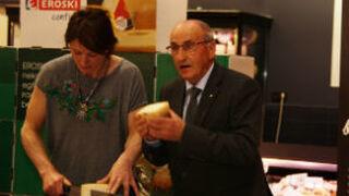 Eroski eleva el 235% en tres años la compra de queso Idiazabal
