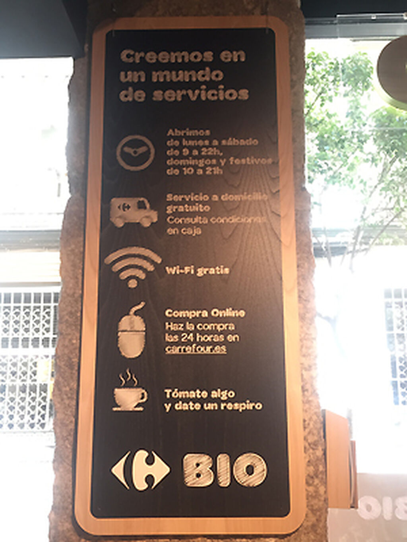 Los servicios ofrecidos por el nuevo Carrefour Bio