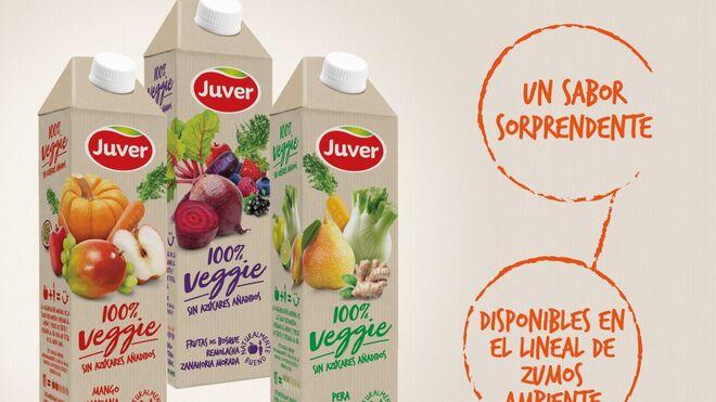 Juver se apunta a la tendencia veggie con tres nuevos zumos
