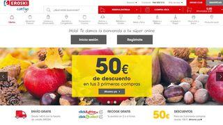 Eroski ya es el mejor supermercado online del año