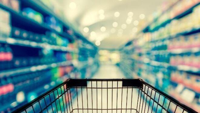 Un carrito en un supermercado