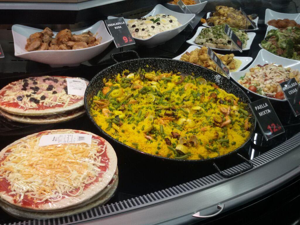 La sección de platos preparados cubre todo tipo de oferta