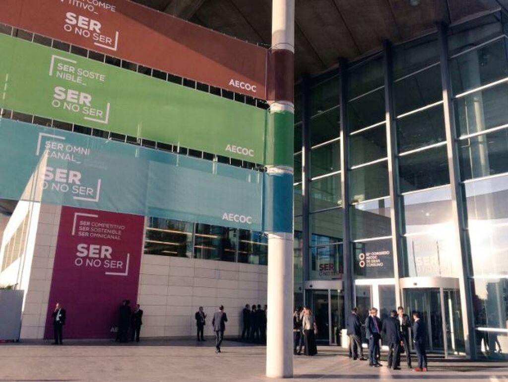 Entrada al Congreso Aecoc en el Palacio de Congresos de Valencia