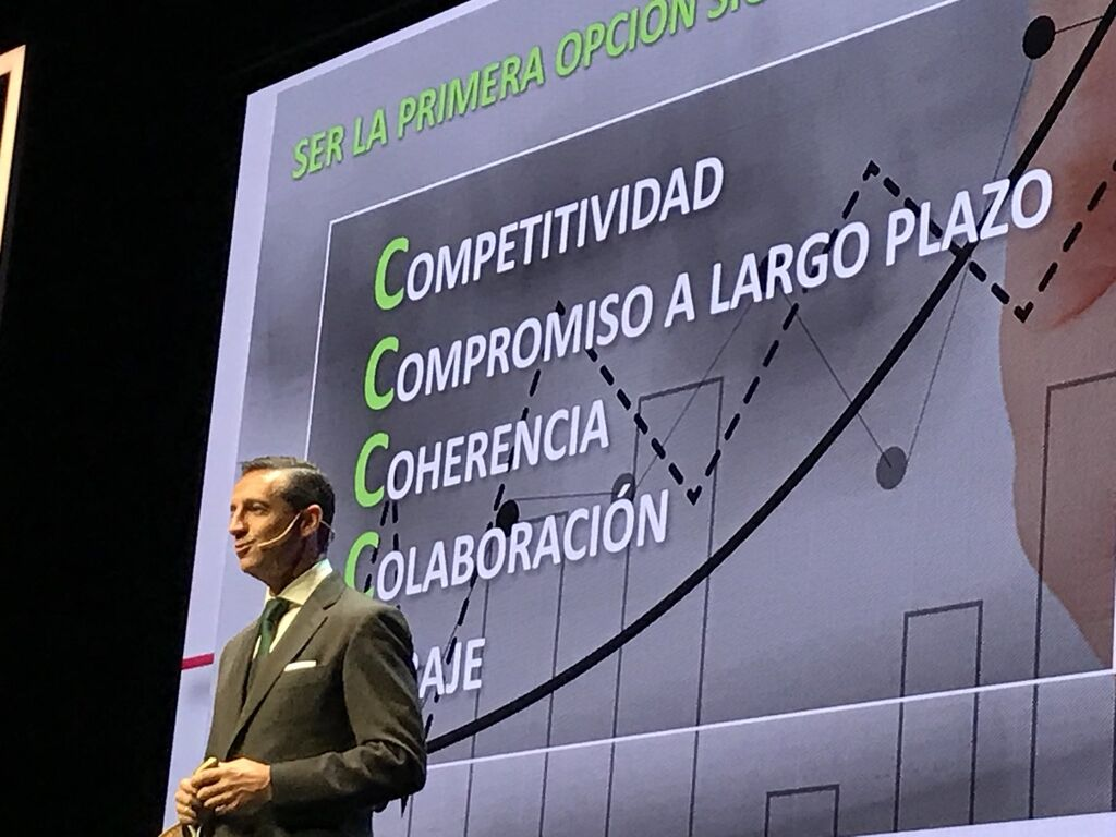 Juan Manuel Morales, director general de  IFA, dando las claves de la evolución del grupo