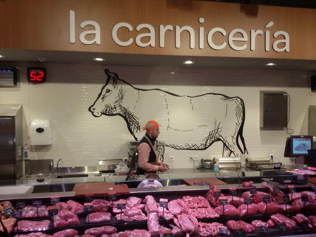 La carnicería, con carne procedente de varios países