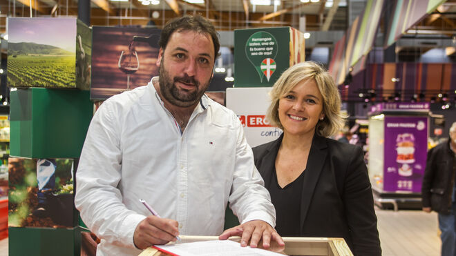 El vino de la Rioja Alavesa gana presencia en Eroski
