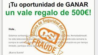 Un nuevo timo afecta a El Corte Inglés, Carrefour y Amazon