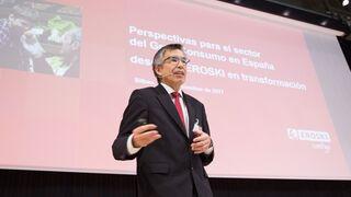 Agustín Markaide, presidente de Eroski, en el encuentro con proveedores
