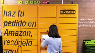 Las taquillas de Amazon se instalan en La Plaza de Dia