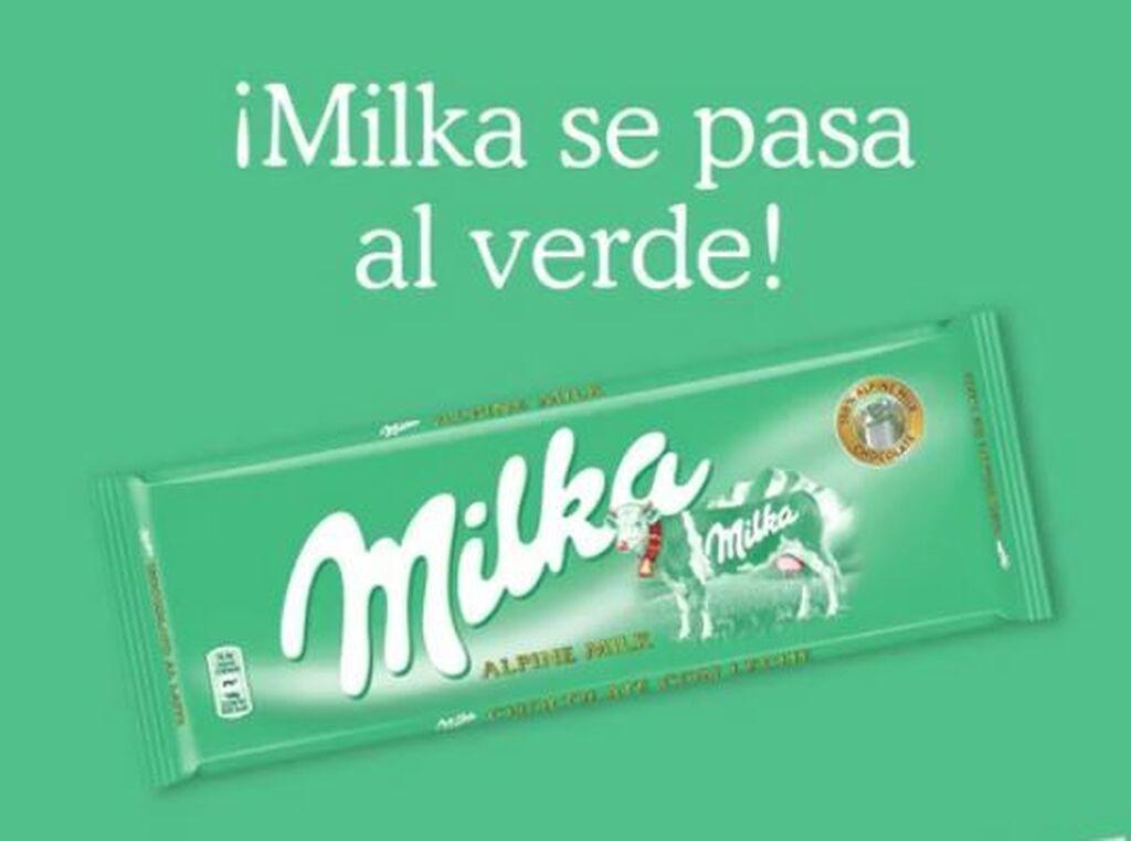 Milka deja el morado y se pasa al verde en homenaje a sus  praderas de los Alpes