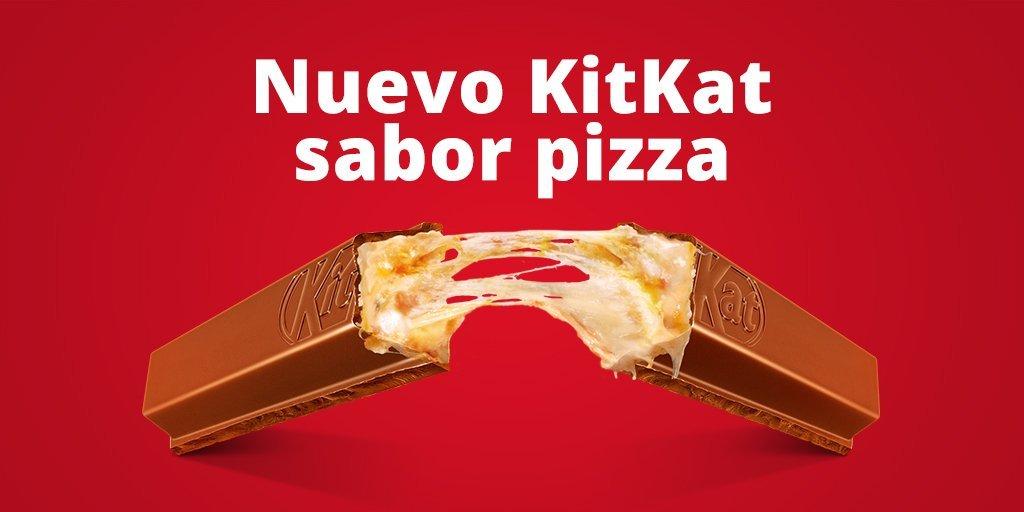 De los creadores de la pizza de KitKat... llega el KitKat de pizza ;)