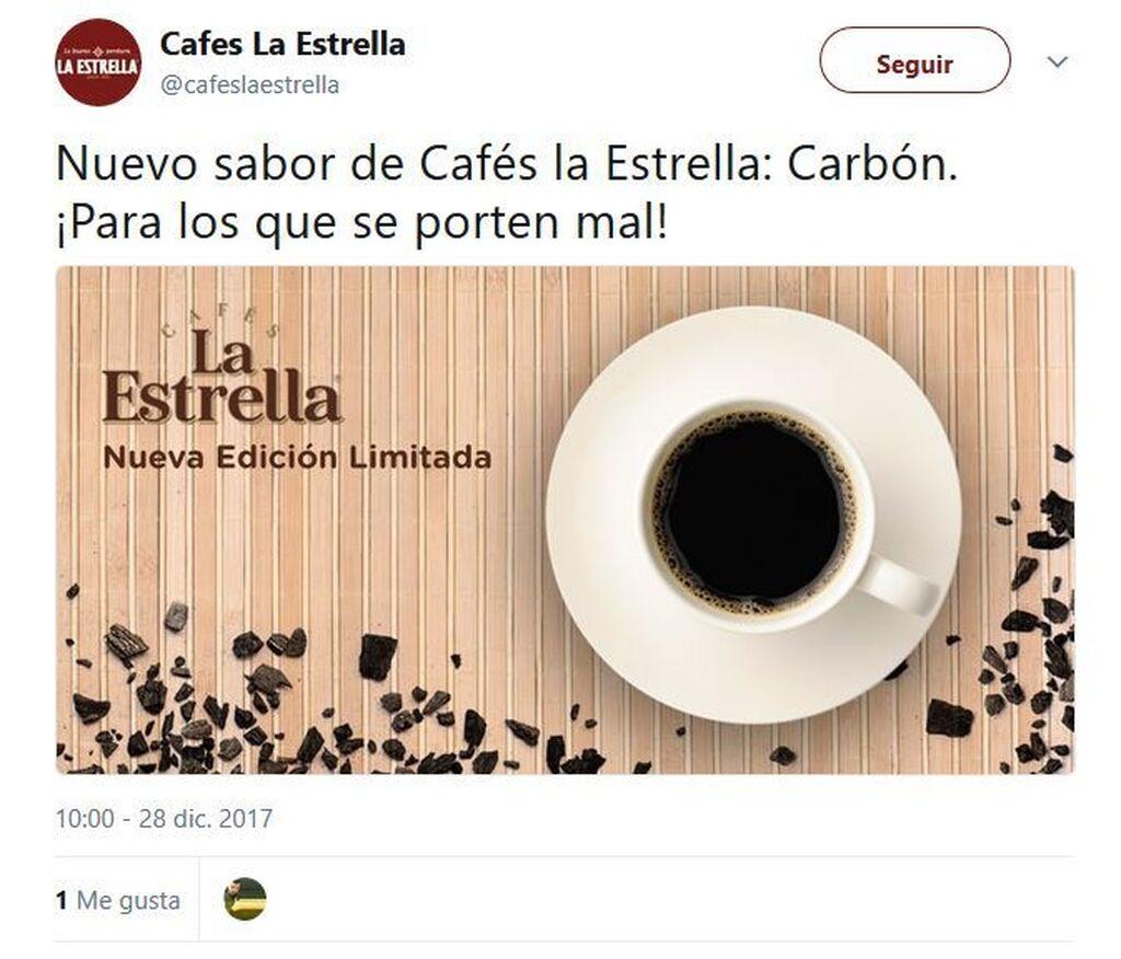Para los que se porten mal, un nuevo sabor de Cafés la Estrella: Carbón
