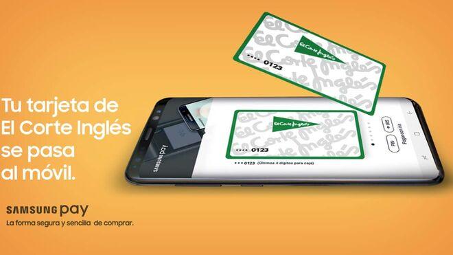 Buen balance de la tarjeta de El Corte Inglés con Samsung Pay