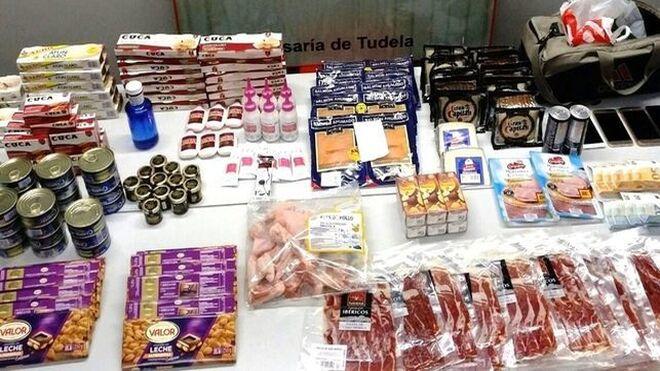 Detenida una banda por hurtos en supermercados de Tudela