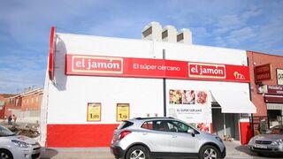 Fachada de un supermercado El Jamón