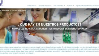 Web de Unilever donde desvela sus secretos