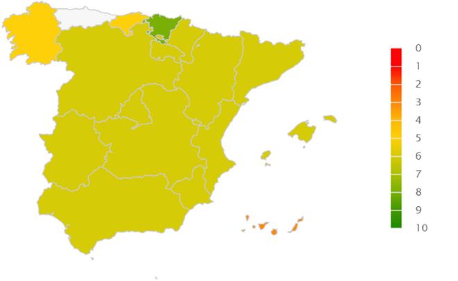 Mapa de rating de riesgo en el sector del aceite oliva