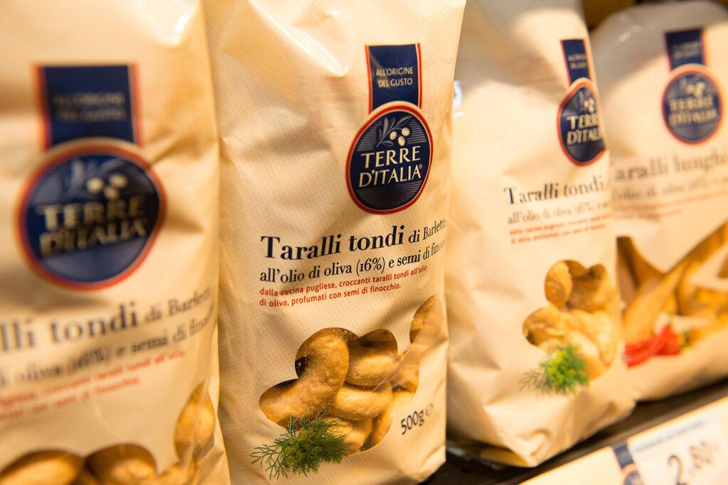 Pasta de la marca Terra d'Italia de Carrefour