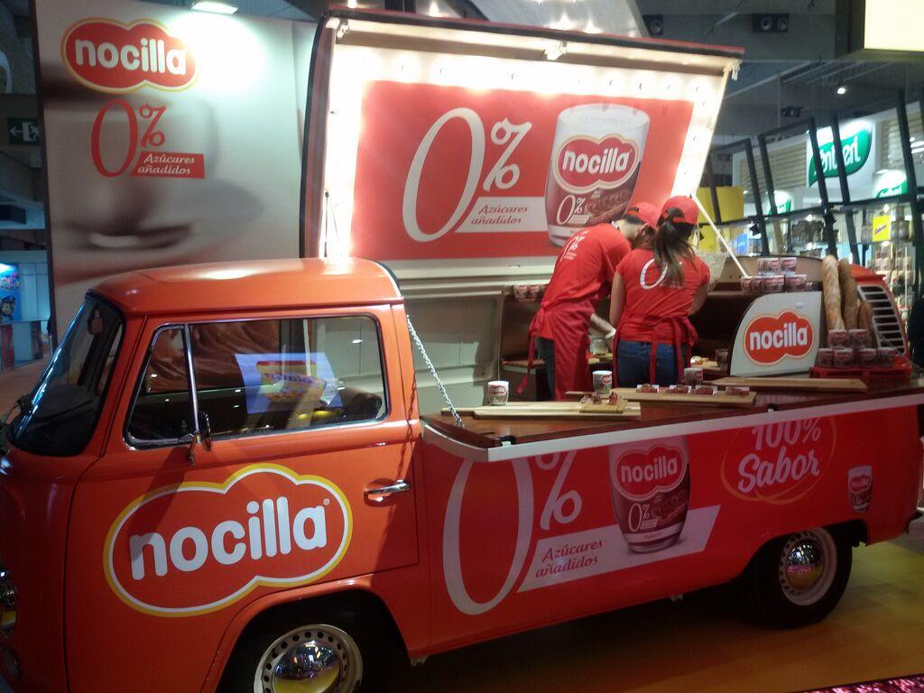 Nocilla presentó con una food truck su producto 0% azúcares añadidos