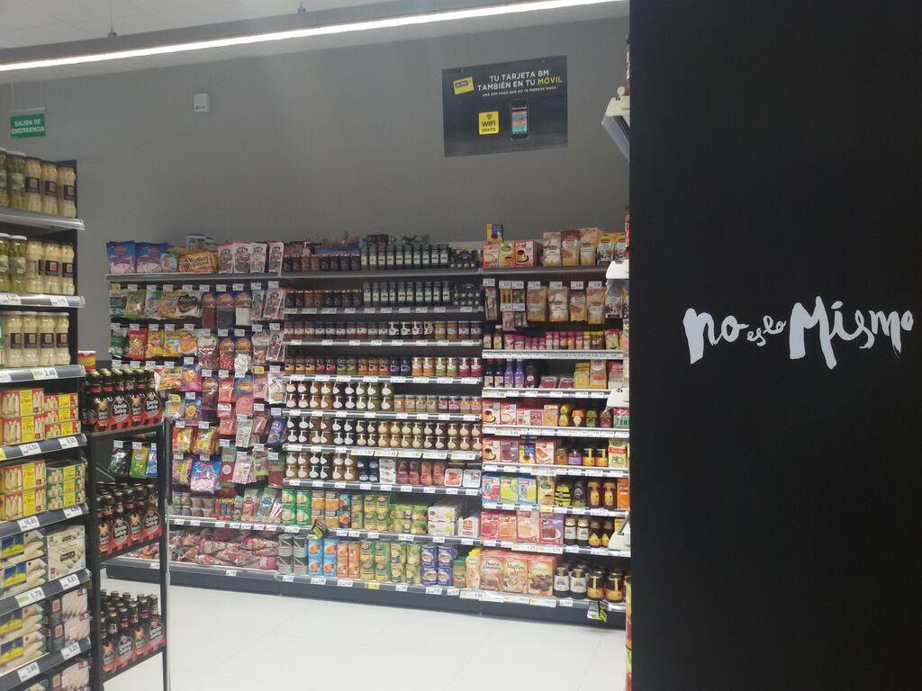 El supermercado cuenta con 600 metros cuadrados de sala de ventas