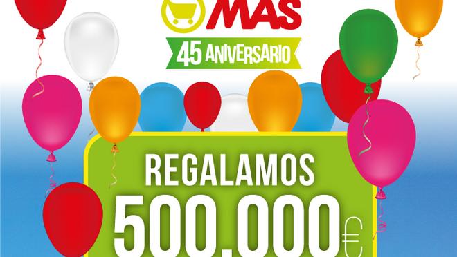 Supermercados Mas: aniversario y regalos