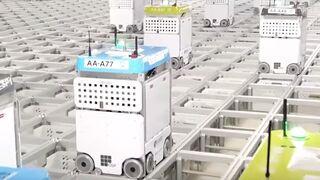 La locura de unos robots preparando pedidos online