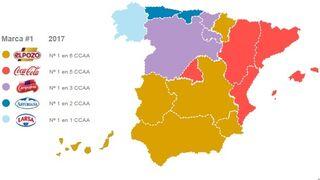 El mapa de las marcas que mandan en España