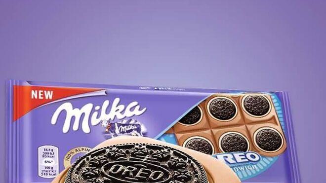 Las galletas Oreo se incrustan en las tabletas de Milka