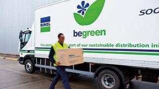 Camión de reparto de Bunzl Distribution Spain