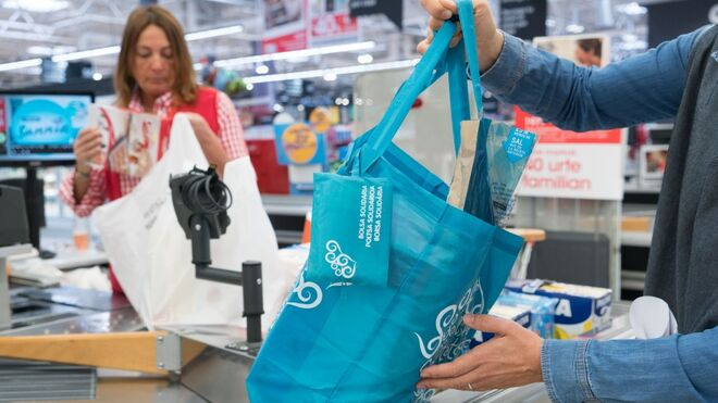 La alternativa sostenible de Eroski a las bolsas de plástico