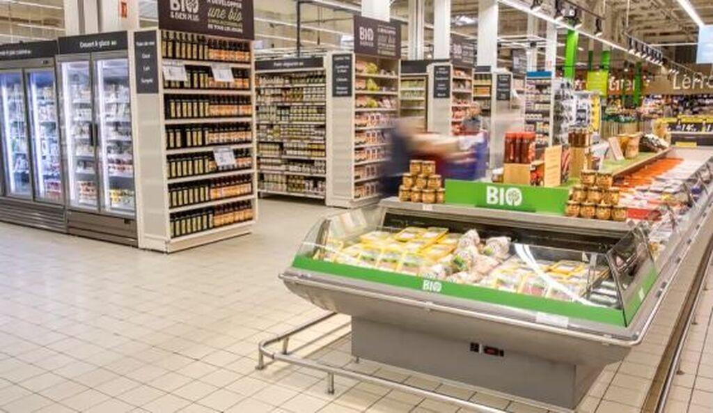 La sección dispone de seis áreas dedicadas a productos orgánicos